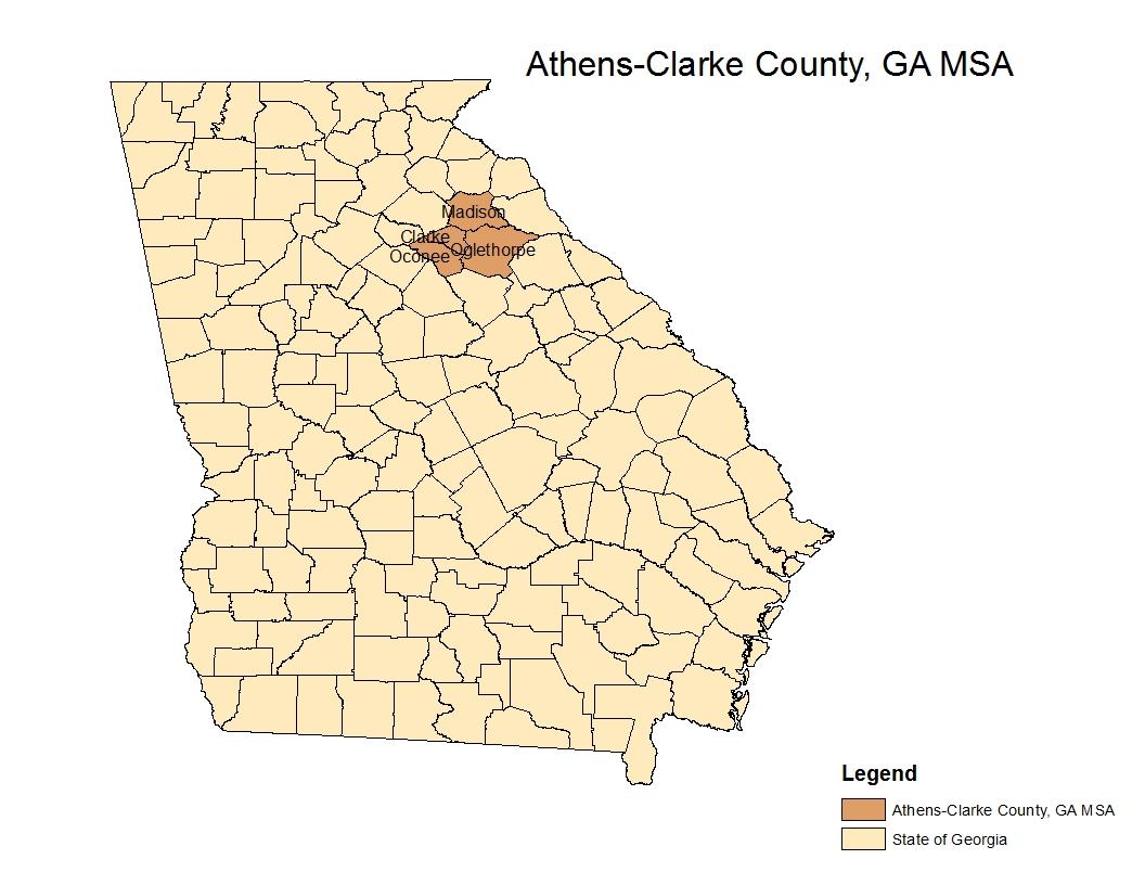 Map Of Georgia Athens.Improving Markets Index Athens Ga Msa Eye On Housing
