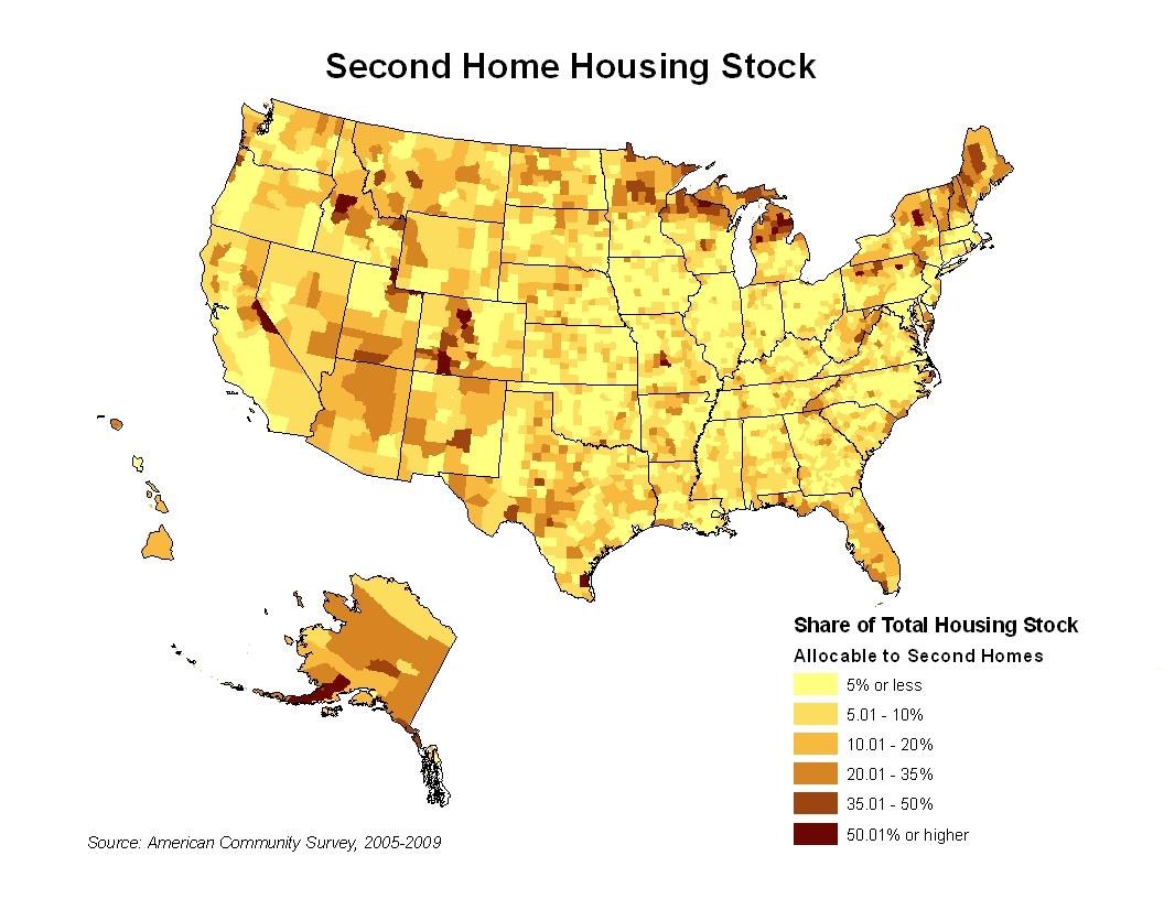 Top 2011 Posts Where Are The Nation S Second Homes Eye