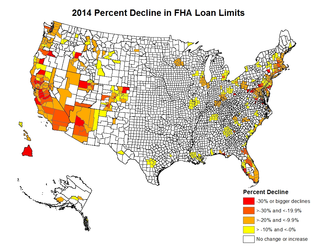 Published FHA Loan Limits Show Large Declines for 2014 | Eye On ...