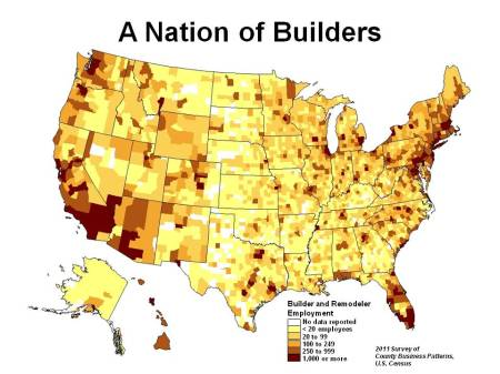 Builder employment map